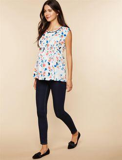 Long Secret Fit Belly Skinny Leg Maternity Jeans, Dark Wash