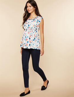 Petite Secret Fit Belly Stretch Skinny Maternity Jeans, DARK WASH
