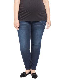 Plus Size Secret Fit Belly Jegging Maternity Jeans, Amarello Wash