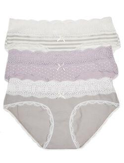 Maternity Hipster Panties (3 Pack), Stripe Multipack