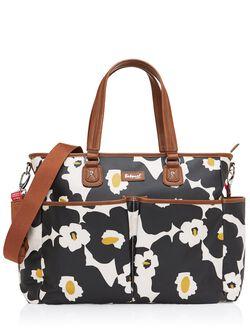 Babymel Bella Diaper Bag– Black Floral, Black
