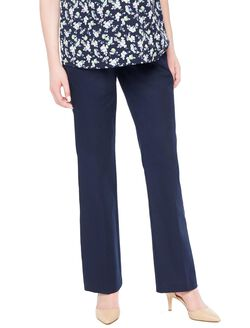 Secret Fit Belly Stretch Twill Boot Maternity Pants, Navy