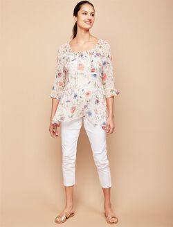 Jessica Simpson Secret Fit Belly Skinny Leg Maternity Crop Jeans, White