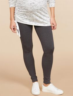 Secret Fit Belly French Terry Maternity Leggings, Charcoal