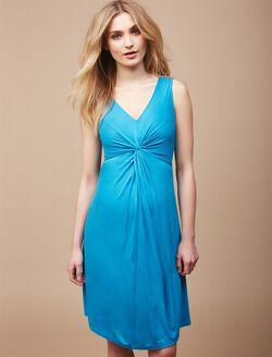 Knot Front Maternity Dress, Blue Jay