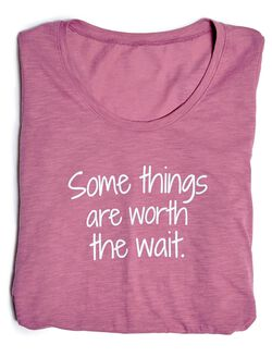 Some Things Are Worth The Wait Graphic Maternity Tee, Some Things Bordeaux