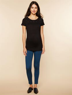 Secret Fit Belly Twill Skinny Leg Maternity Pants, Teal
