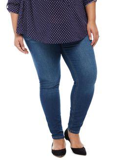 Plus Size Secret Fit Belly Jegging Maternity Jeans, Medium Wash