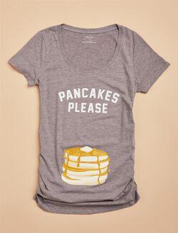 Embellished Short Sleeve Maternity T Shirt, Grey