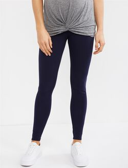 Secret Fit Belly Maternity Leggings- Solid, Navy