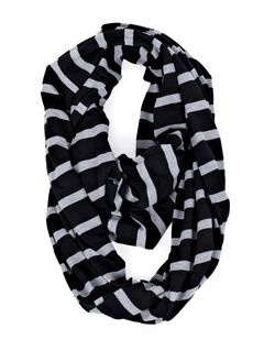 Itzy Ritzy Nursing Scarf- Grey/Black Stripe, Black/Grey Stripe