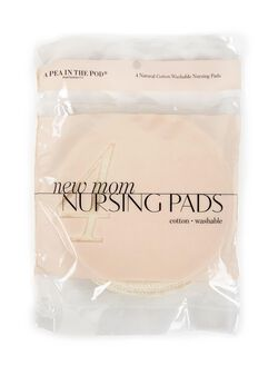 Cotton Washable Nursing Pads, Cream