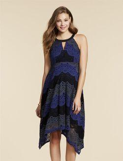 Jessica Simpson Hanky Hem Maternity Dress, Stripe