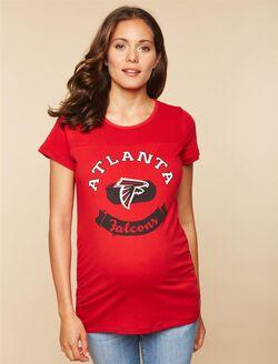 Atlanta Falcons NFL Mesh Detail Maternity Tee, Falcons