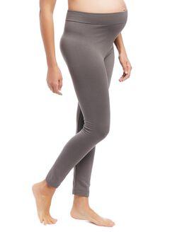 Pull On Fleece Maternity Leggings, Grey