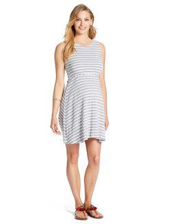 Jessica Simpson Rib Knit Maternity Dress, Navy