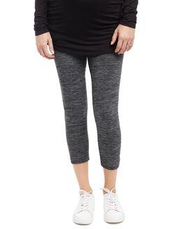 No Belly Belly Maternity Leggings- Grey Spacedye, Grey Space Dye