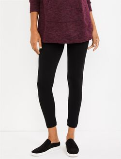 Under Belly Maternity Leggings, BLACK