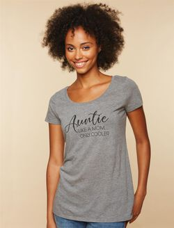 Auntie Like A Mom...Only Cooler Tee, Grey