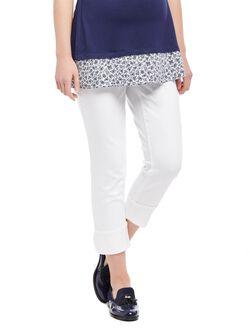 Secret Fit Belly Skinny Leg Maternity Crop Jeans, White