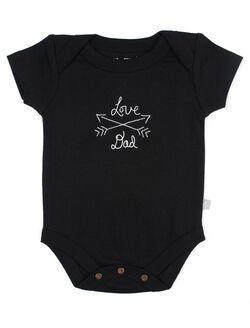 Finn + Emma Love Dad Organic Baby Bodysuit, Black