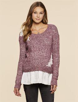 Jessica Simpson Embellished Maternity Sweater, Purple Marl