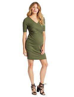 Jessica Simpson Cross Front Maternity Dress, Four Leaf Clover