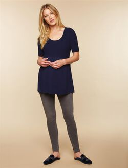 Secret Fit Belly Skinny Maternity Jeans- Grey, Medium Grey