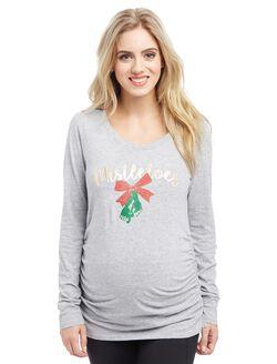 Mistletoes Maternity Tee, Mistletoes Grey