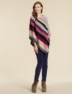 Jessica Simpson Poncho Maternity Sweater, Multi Zig Zag